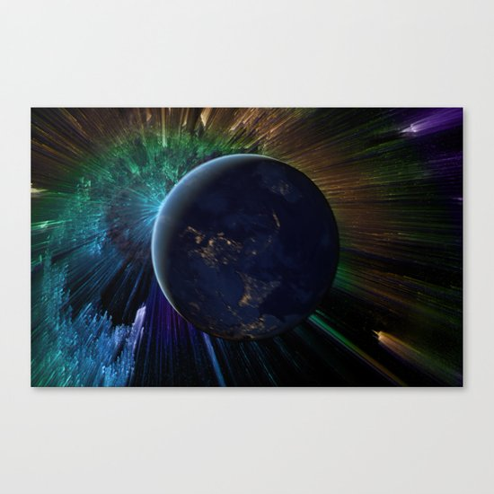 You Run to Catch Up With the Sun (But It's Sinking) Canvas Print