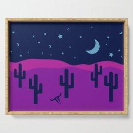 Modern Desert Cactus Scene #desert #cactus Serving Tray