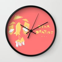 dentist Wall Clocks featuring Dear Dentist... by 5wingerone