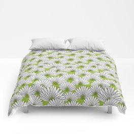 flowers on greenery Comforters