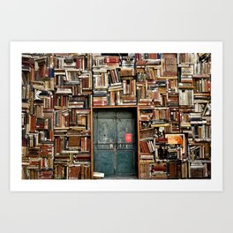 bookstore in Italy Art Print