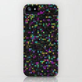 Glitch Grid iPhone Case