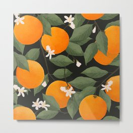 fresh citrus // dark Metal Print
