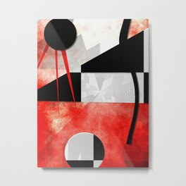 Black and white meets red Version 18 Metal Print