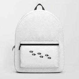 Black Paws I Love Dogs Dog Puppy Shirt Backpack