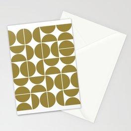 Mid Century Modern Geometric 04 Flat Gold Stationery Cards