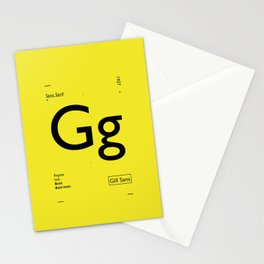 Gill Sans Stationery Cards