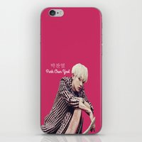 exo iPhone & iPod Skins featuring EXO Chanyeol Love Me Right by Korean Zombie