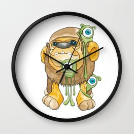 ape & aliens Wall Clock