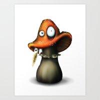 Fred The Mushroom Art Print