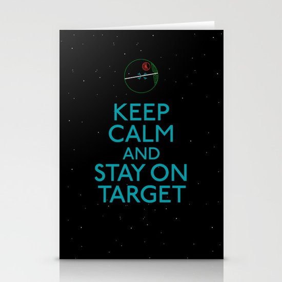 Stay on target Stationery Cards
