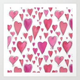 Watercolor My Heart (Large) by Deirdre J Designs Art Print