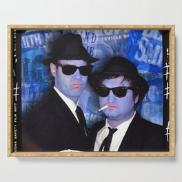 Blues Brothers Blue Serving Tray