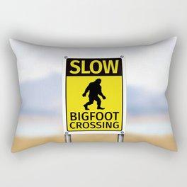Bigfoot Crossing Sign Rectangular Pillow