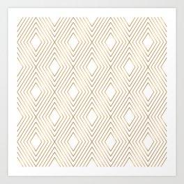 Elegant Geometric Gold Pattern Illustration Art Print