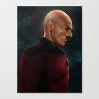 picard Canvas Prints featuring Picard by ErstwhileSky