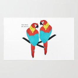 Cuban Macaw. Rug