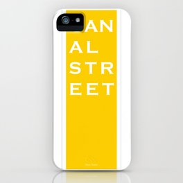 Canal Street - NYC - Yellow iPhone Case