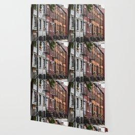 Picturesque street view in Greenwich Village, New York Wallpaper
