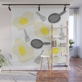 Fried Egg and the Frying Pan Wall Mural
