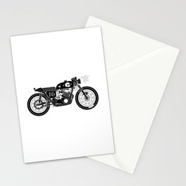 Moto #16 (White/Black) Stationery Cards