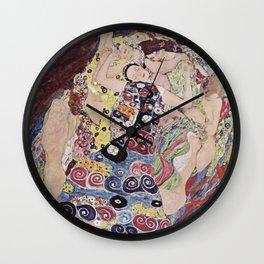 Gustav Klimt - The Maiden Wall Clock