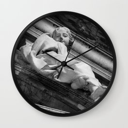 I see you, with love your Angel | Rome, Italy | Black & White Photography | Travel Photography | Photo Print | Art Print Wall Clock