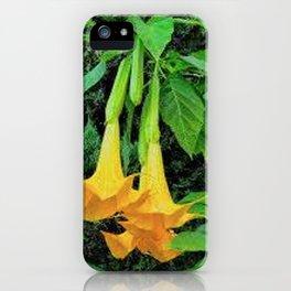 TROPICAL GOLDEN ANGEL TRUMPET FLOWERS iPhone Case