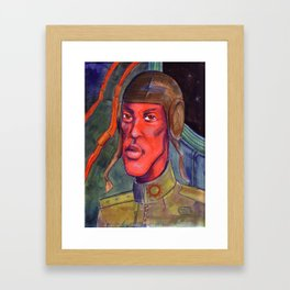 Red Pilot Framed Art Print