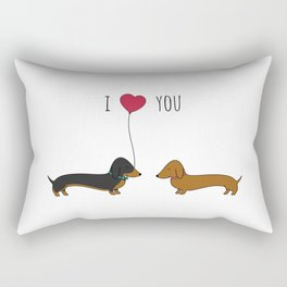 DACHSHUND LOVE Rectangular Pillow