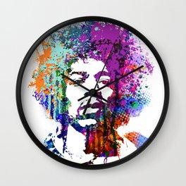 JIMI HENDRIX PAINTING ART Wall Clock