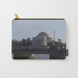 Jefferson Memorial in color on Christmas Day 2017 Carry-All Pouch