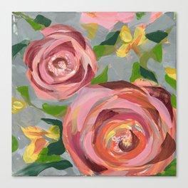 Platinum Rose Canvas Print