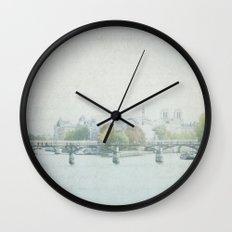 Letters From La Cité - Paris Wall Clock