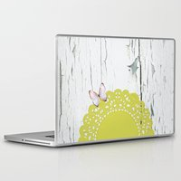 olivia joy Laptop & iPad Skins featuring Olivia by The ArdentSparrow