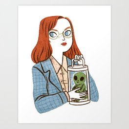 Dana Scully, Patron Saint of Nerds Art Print