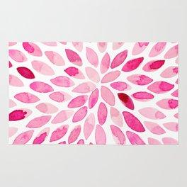 Watercolor brush strokes - pink Rug