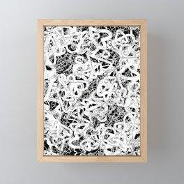 modern love in black and white Framed Mini Art Print