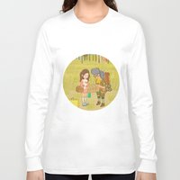 moonrise kingdom Long Sleeve T-shirts featuring 'Moonrise Kingdom' by Nicola Colton illustration