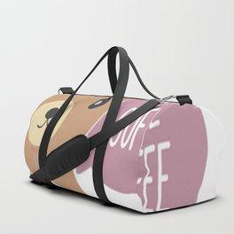 Bear Loves Coffee Duffle Bag