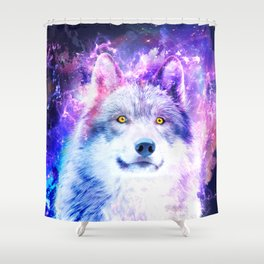Cosmic Wolf Shower Curtain