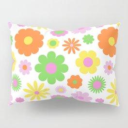 Vintage Daisy Crazy Floral Pillow Sham