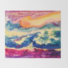 My Starry Watercolor Night Throw Blanket
