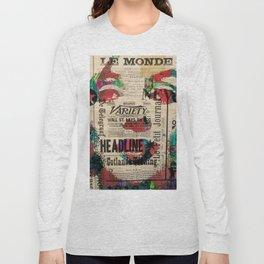 sepia Mrs. Monroe Hollywood POP ART CELEBRITY Long Sleeve T-shirt