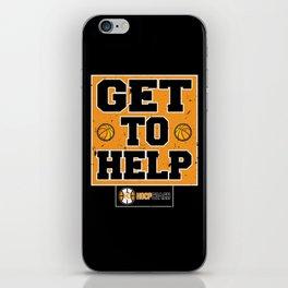Get To Help Basketball Hoop Coach iPhone Skin
