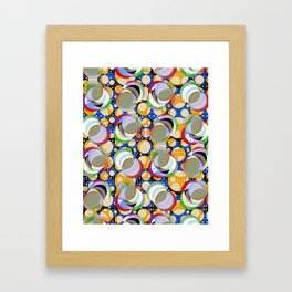 Circle Insanity Multicolored Framed Art Print