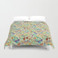 sunglasses Duvet Covers featuring Sunglasses by Laura Barnes