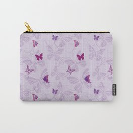 Butterflies on Violet Carry-All Pouch