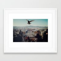 barcelona Framed Art Prints featuring Barcelona by Alfredo Lietor