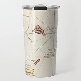 Vintage Turks and Caicos Map (1764) Travel Mug